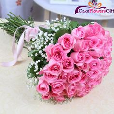 Considering the convenience associated with online flower delivery in Hyderabad, people are now increasingly gifting flowers to their loved ones! Pink Rose Bouquet, Rose Wedding Bouquet, Pink Roses, Beautiful Rose Flowers, Beautiful Flower Arrangements, Amazing Flowers, Blue Lotus Flower, Online Flower Delivery, Anniversary Flowers