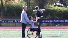 This Dad Pushes His Daughter In Wheelchair Through All Her Marching Band Performances