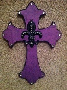Purple Wood Crosses   More like this: wooden crosses , purple backgrounds and crosses .