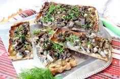 Пирог с грибами | Рецепт с фото