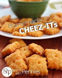 Homemade Cheez-Its! These are a super fun project to make at home with the kids and they are delicious!