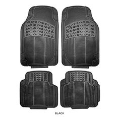 4-Pack: Trimmable Heavy-Duty Rubber Car Floor Mats - Assorted Colors