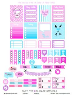 Amethyst Planner Stickers | Free printable, for personal use only