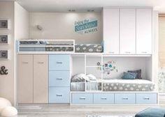 Dormitorio infantil con 2 camas tipo Tren