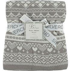 Grey Fairisle Pram & Moses Blanket