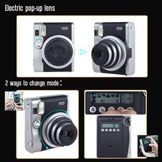 Fujifilm Instax Mini 90 Neo Classic Instant Camera Photo Film Sales Online black us - Tomtop.com