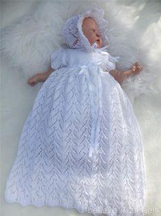 Baby Cardigan Knitting Pattern Free, Crochet Baby Dress Pattern, Baby Dress Patterns, Baby Knitting Patterns, Crochet Christening Patterns, Baby Christening Dress, Baby Dress Design, Baby Blessing, Dress Set