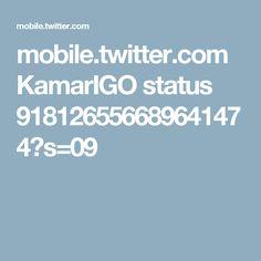 mobile.twitter.com KamarIGO status 918126556689641474?s=09