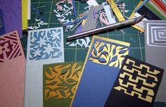 hand-cut papercut bookmarks
