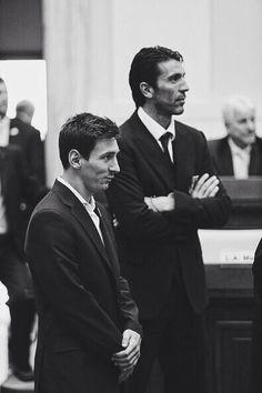 Gianluigi Buffon and Lionel Messi.