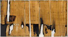 Collection Online | Alberto Burri. Legno e bianco 1 (Wood and White 1). 1956 - Guggenheim Museum