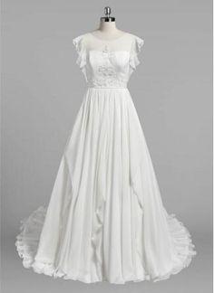 2016 New Vantage Wedding Dresses O-Neck Chiffon And
