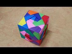 358 Origami 종이접기 (큐브 박스) Cube 색종이접기 摺紙 折纸 оригами 折り紙 اوريغامي - YouTube