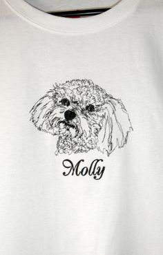 Personalized BICHON FRISE Embroidered Custom Dog by OneDogFashions