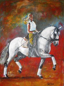 """Pintor Patico expõe """"Equestre"""" na Galeria Vilalda em Sintra"""