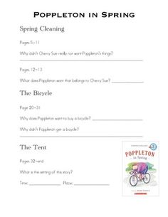 Poppleton in Spring Comprehension Questions