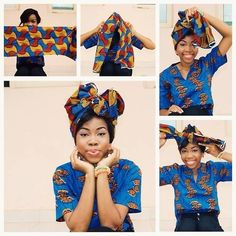 How to wear a wrap!! #africanprints #africanfashion