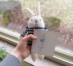 hand knit rabbit