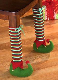 Elf feet for table