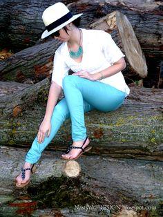 pistachio pants and statementnecklace  :)