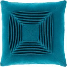 Surya Akira Wide Square Solid Pattern Cotton Covered Down Filled A Teal Bedding Pillows Throw Teal Throws, Teal Throw Pillows, Velvet Pillows, Throw Pillow Covers, Bed Pillows, Scatter Cushions, Duvet Covers, Teal Bedding, Linen Bedding