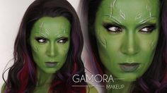 Gamora Guardians of the Galaxy MakeUp Tutorial | Shonagh Scott | Gamora Halloween Cosplay - YouTube
