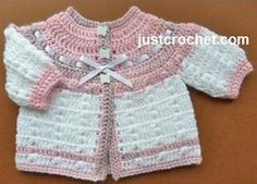Free baby crochet pattern prem cardi usa