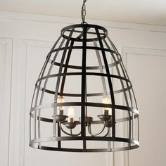 Cage Basket 4 Light Chandelier yeah... I know it's $555 but it's pretty fab. kitchen