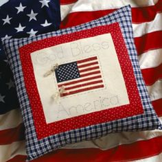 American Flag Pillow Sewing Pattern and More Patriotic Patterns