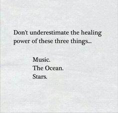 Music. The Ocean. Stars