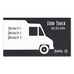 Food Truck Business Card Template. I love this design! It is available for customization or ready to buy as is. All you need is to add your business info to this template then place the order. It will ship within 24 hours. Just click the image to make your own!