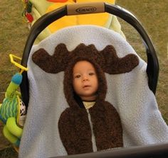 moose car seat cover. The cutest!