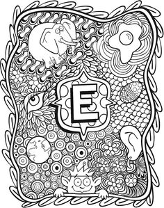 Welcome to Dover Publications Alphabet Coloring Pages, Colouring Pages, Adult Coloring Pages, Coloring Sheets, Coloring Books, Alphabet Letters, Letter Art, Christmas Alphabet, Doodle Coloring