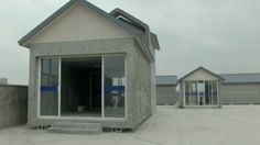 3D printer builds houses in China - video