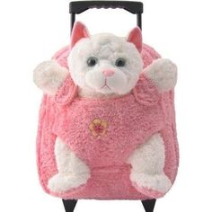 be84f44066 Kreative Kids Removable White Cat Roller Backpack 8099