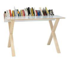 Scrittoi moderni e di design - Scrittoio con porta libri