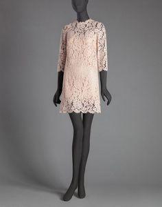 CORDONETTO LACE SHIFT DRESS - Short dresses - Dolce&Gabbana - Winter 2015