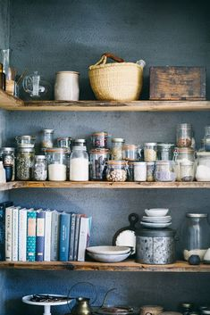 Check out these photos and interview with Beth Kirby of Local Milk in her Tennessee home. Check out these photos and interview with Beth Kirby of Local Milk in her Tennessee home. Kitchen Jars, Kitchen Shelves, Kitchen Pantry, New Kitchen, Kitchen Decor, Open Pantry, Local Milk, Cocinas Kitchen, Pantry Storage