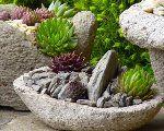 Kvetináče z hypertufy, Autor: Lumix Cement Planters, Cement Crafts, Garden Photos, Growing Plants, Garden Sculpture, Succulents, Exterior, Outdoor Decor, Diy