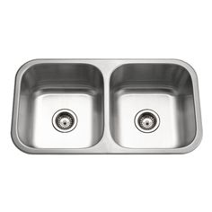 HOUZER Medallion Classic Series Undermount 31-1/2x17-15/16x9 0-Hole Double Bowl Kitchen Sink-MD-3109 at The Home Depot $247.20
