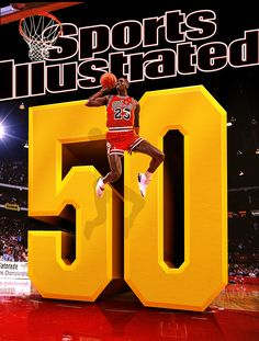 Sports Illustrated US asked me to do a cover design celebrating Michael Jordan's 50th Birthday and also his 50th appearance on the cover of the magazine.