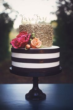 stripes and polka dots wedding cake - Google Search: