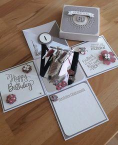 Explosionsbox Geburtstag Frau! Mit Kleiderständer zum 60. Geburtstag
