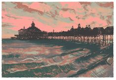 Eastbourne Pier - Dawn  (Edition of 75) by Andy Lovell