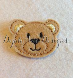 Teady the Bear Feltie Embroidery Design