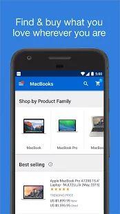 eBay - Buy, Sell & Save Money- screenshot thumbnail Apple Laptop, Apple Macbook Pro, Ecommerce App, Laptop Shop, Google Play, Saving Money, Android, Phone, Ebay