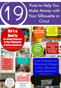 Pin now, read later! Must see blog to learn to make money with your Silhouette Cameo or Cricut. cuttingforbusiness.com