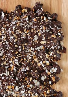 Chocolate Chip Cookie Bark  with toasted walnuts and coconut chips, yum!!