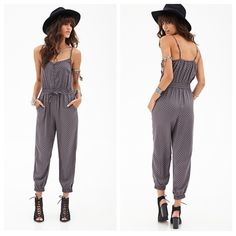 Forever 21 Jumpsuit Worn only twice! I love this Forever 21 Jumpsuit!  No trades, no PayPal, price firm. Picture courtesy of Forever 21. Forever 21 Pants Jumpsuits & Rompers