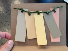Bridesmaids cards with color swatches - cute way to ask